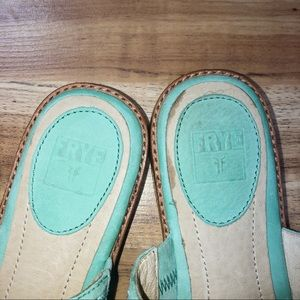 Frye Shoes - Frye Mint Green 7.5 thong Sandals
